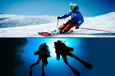 Skiing and Diving Tour